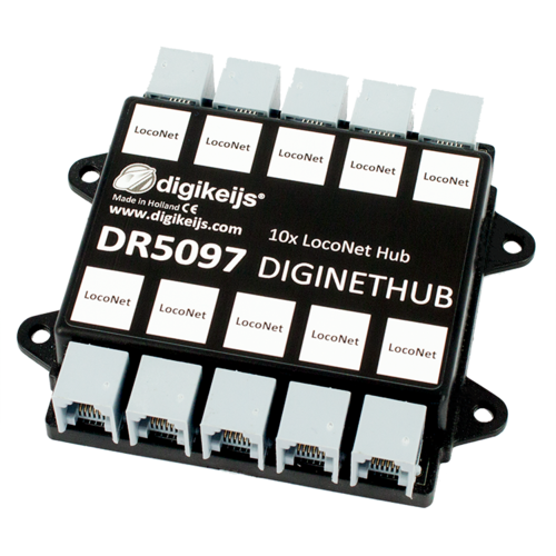 Digikeijs DR5097 Diginethub (10x Loconet-Hub)